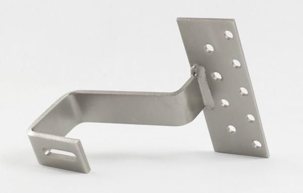 4645 Dachhaken mittlere Ausführung Platte: 4x80x180 / Haken: 6x35 / Material: 1.4301 mittlere Ausfüh