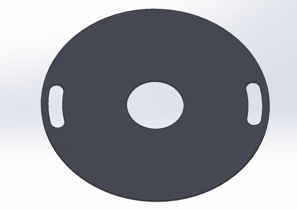 Feuerplatte 80cm 5mm Edelstahl 1.4301