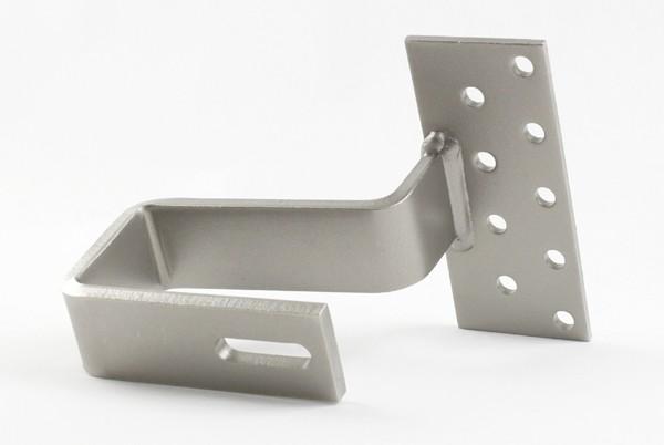 4547 Schwere Ausführung Platte: 5x60x150 / Haken: 8x40 / Material 1.4301