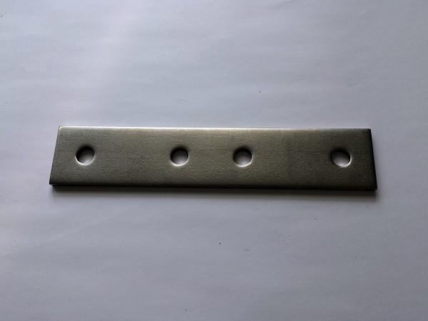 4532 Schienenverbinder Abmessung 5x40x200 mit 4xRLØ11 / Material 1.4301
