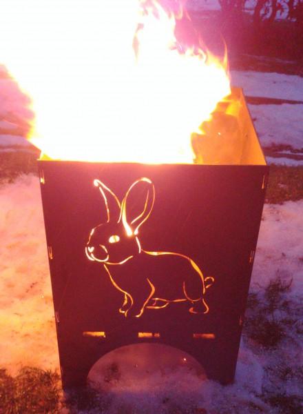 Feuerkorb Hase