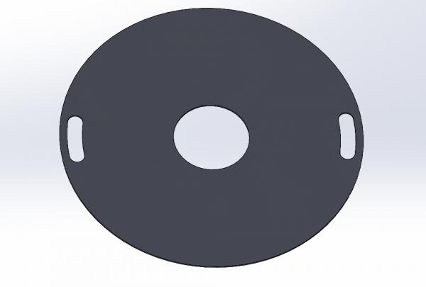 Feuerplatte 100cm 6mm Grillplatte Grillring für Feuertonne